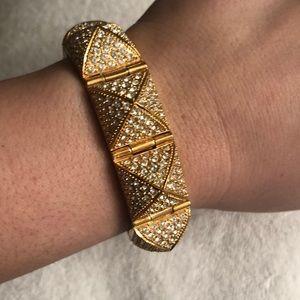 CC Skye Gold Rhinestone Bracelet